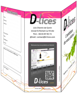 Plaquette 3 volets D-Lices